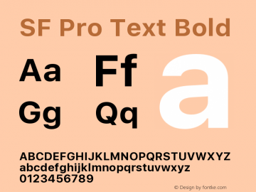 SF Pro Text Bold Version 01.0d1e2图片样张