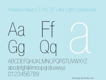 HelveticaNeueLTPro-UltLtCn Version 1.000;PS 001.000;Core 1.0.38图片样张