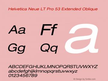 HelveticaNeueLTPro-ExO Version 1.000;PS 001.000;Core 1.0.38图片样张