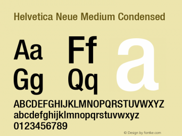 Helvetica 67 Medium Condensed Version 001.000图片样张