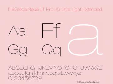 HelveticaNeueLTPro-UltLtEx Version 1.000;PS 001.000;Core 1.0.38图片样张