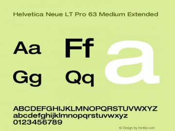HelveticaNeueLTPro-MdEx Version 1.000;PS 001.000;Core 1.0.38图片样张