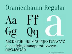 Oranienbaum Version 1.001; ttfautohint (v0.91) -l 8 -r 50 -G 200 -x 0 -w