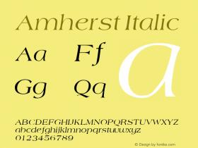 Amherst Italic v1.0c图片样张