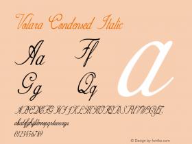 Volara-CondensedItalic Version 1.000图片样张