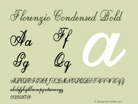 Florenzio-CondensedBold Version 1.000图片样张