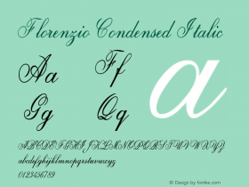 Florenzio-CondensedItalic Version 1.000图片样张