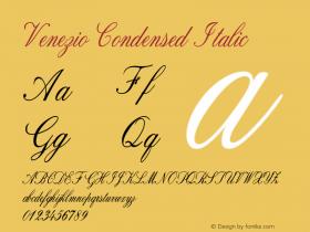Venezio-CondensedItalic Version 1.000图片样张