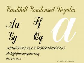 Cardihill-CondensedRegular Version 1.000图片样张