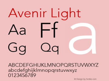Avenir 35 Light Version 001.001图片样张