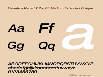 HelveticaNeueLTPro-MdExO Version 1.000;PS 001.000;Core 1.0.38图片样张