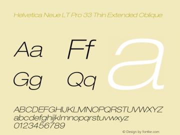 HelveticaNeueLTPro-ThExO Version 1.000;PS 001.000;Core 1.0.38图片样张