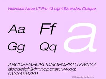 HelveticaNeueLTPro-LtExO Version 1.000;PS 001.000;Core 1.0.38图片样张