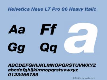 HelveticaNeueLTPro-HvIt Version 1.000;PS 001.000;Core 1.0.38图片样张