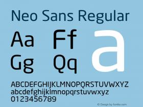 Neo Sans Version 001.000图片样张