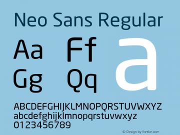 Neo Sans Version 001.000图片样张