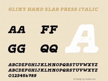 GlinyHand-SlabPressItalic Version 1.000图片样张
