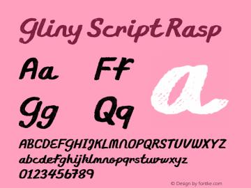 Gliny Script Rasp Version 1.000图片样张