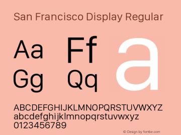 San Francisco Display Version 1.00 January 4, 2017, initial release图片样张