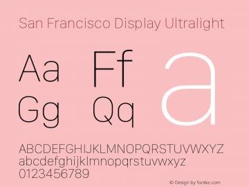 San Francisco Display Ultralight Version 1.00 January 4, 2017, initial release图片样张