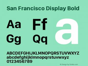 San Francisco Display Bold Version 1.00 January 4, 2017, initial release图片样张