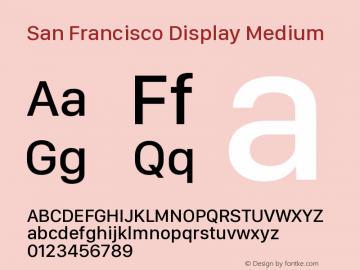San Francisco Display Medium Version 1.00 January 4, 2017, initial release图片样张