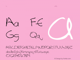 LeftyCasual  Font Sample