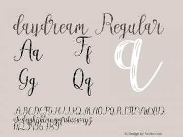daydream Version 1.000; ttfautohint (v1.5.65-e2d9)图片样张