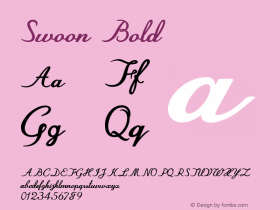 Swoon-Bold Version 1.000图片样张