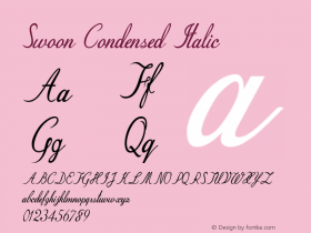 Swoon-CondensedItalic Version 1.000图片样张