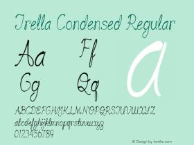 Trella-CondensedRegular Version 1.000图片样张
