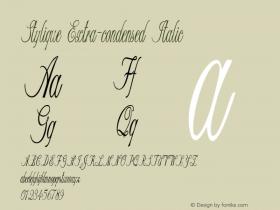 Stylique-ExtracondensedItalic Version 1.000图片样张