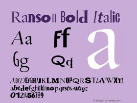 Ransom Bold Italic Version 1.50图片样张