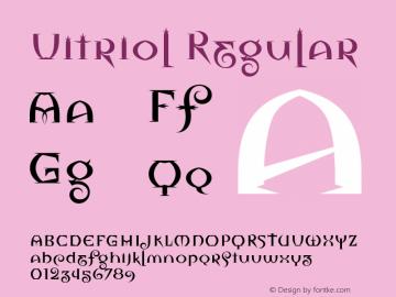 Vitriol Macromedia Fontographer 4.1 1/02/2000图片样张