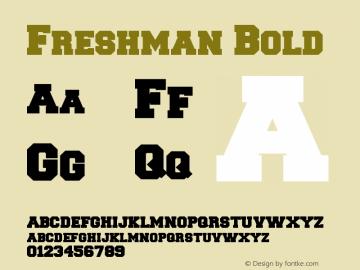 Freshman Bold Version 1.0 Extracted by ASV http://www.buraks.com/asv图片样张