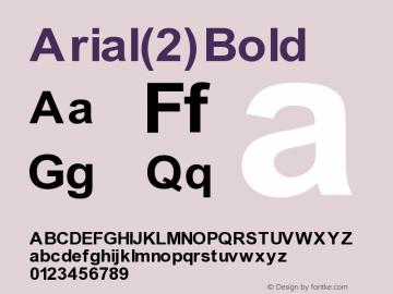 Arial(2) Bold Version 1.0 Extracted by ASV http://www.buraks.com/asv图片样张