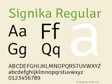 Signika Version 1.0 Extracted by ASV http://www.buraks.com/asv图片样张
