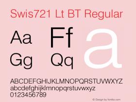 Swis721 Lt BT Version 1.0 Extracted by ASV http://www.buraks.com/asv图片样张