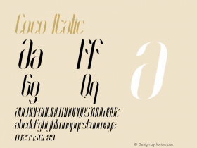 Coco-Italic Version 1.000;PS 001.001;hotconv 1.0.56图片样张