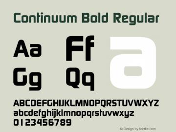 Continuum Bold Macromedia Fontographer 4.1 5/6/96图片样张