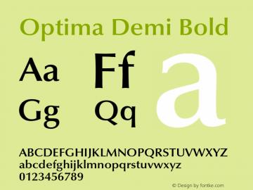 Optima-DemiBold 001.000图片样张