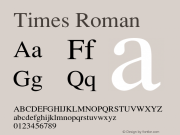 Times-Roman 001.004图片样张