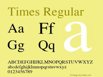 Times Roman 3.5a3图片样张