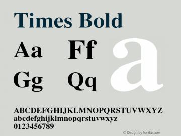 Times-Bold 001.004图片样张
