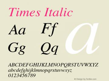 Times Italic 3.5a3图片样张