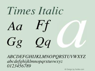 Times-Italic 001.004图片样张