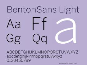 BentonSans Light Version 4.002 June 28 2011图片样张