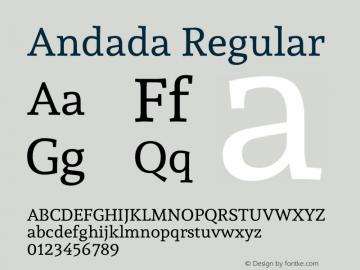 Andada-Regular Version 1.001图片样张