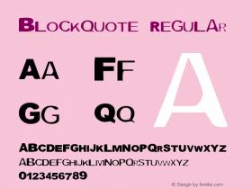 Blockquote Version 1.50图片样张