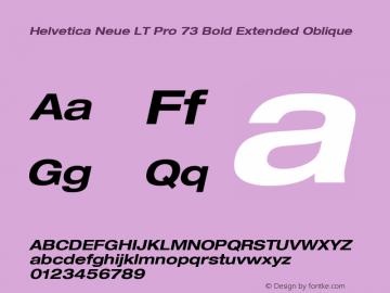 HelveticaNeueLTPro-BdExO Version 1.000;PS 001.000;Core 1.0.38图片样张